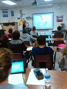 Killough Science classes are more interactive thanks to tablet technology.