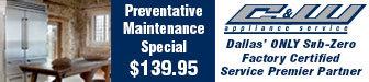 C&W Appliance Special $139.95