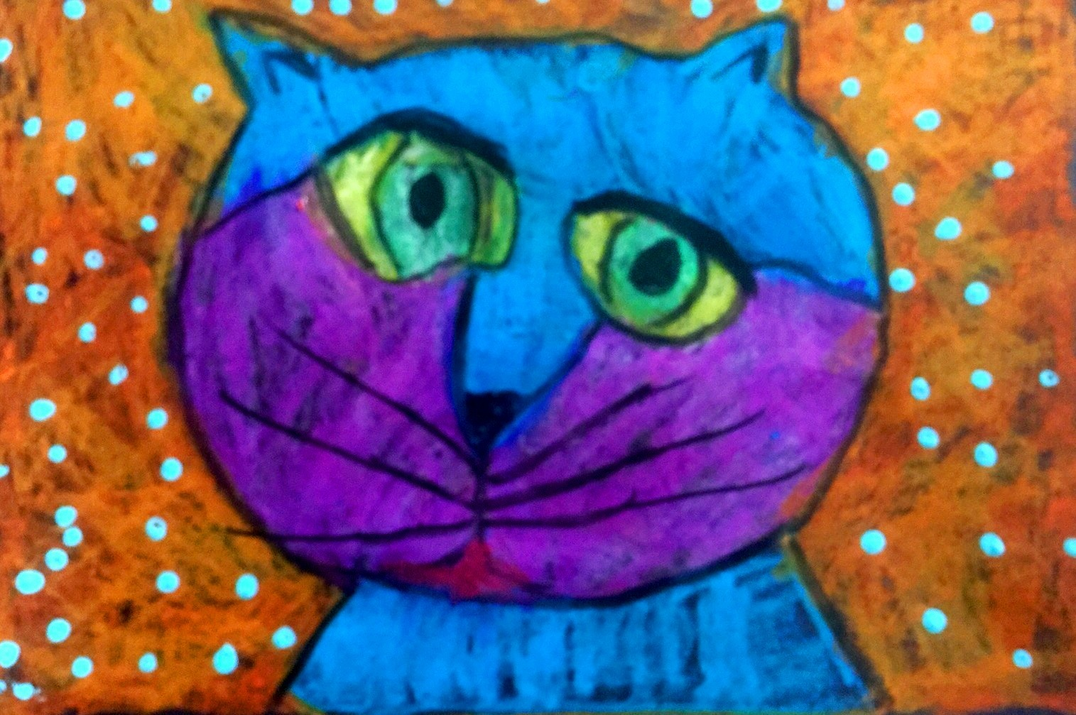 Kindergartener Savannah Oglesby's art