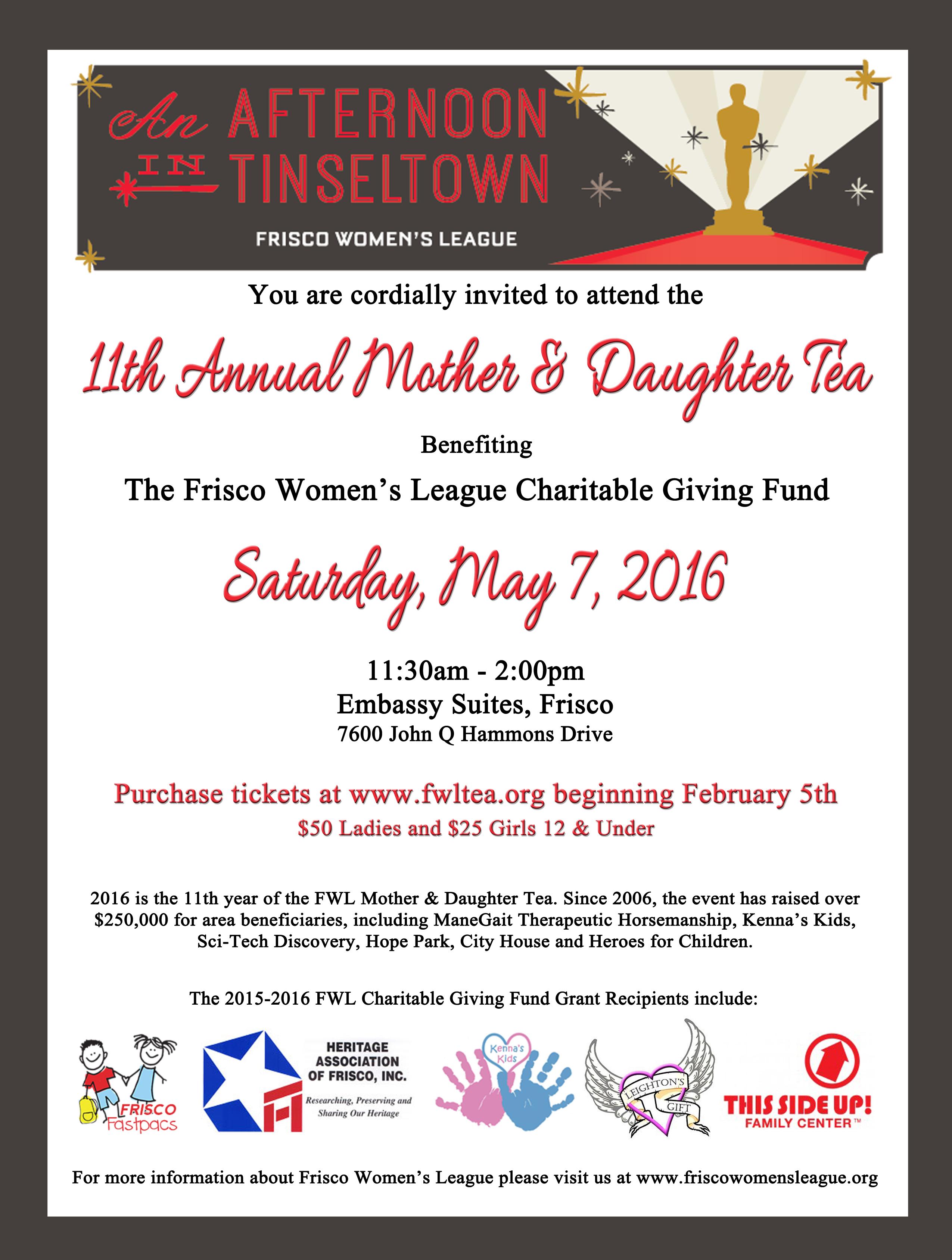 11th Annual FWL Mother Daughter Tea Frisco Womens League
