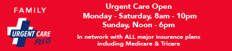 Family Urgent Care Plus: SideBar