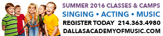 DAMPA SummerCamps-Singing, Acting, Music