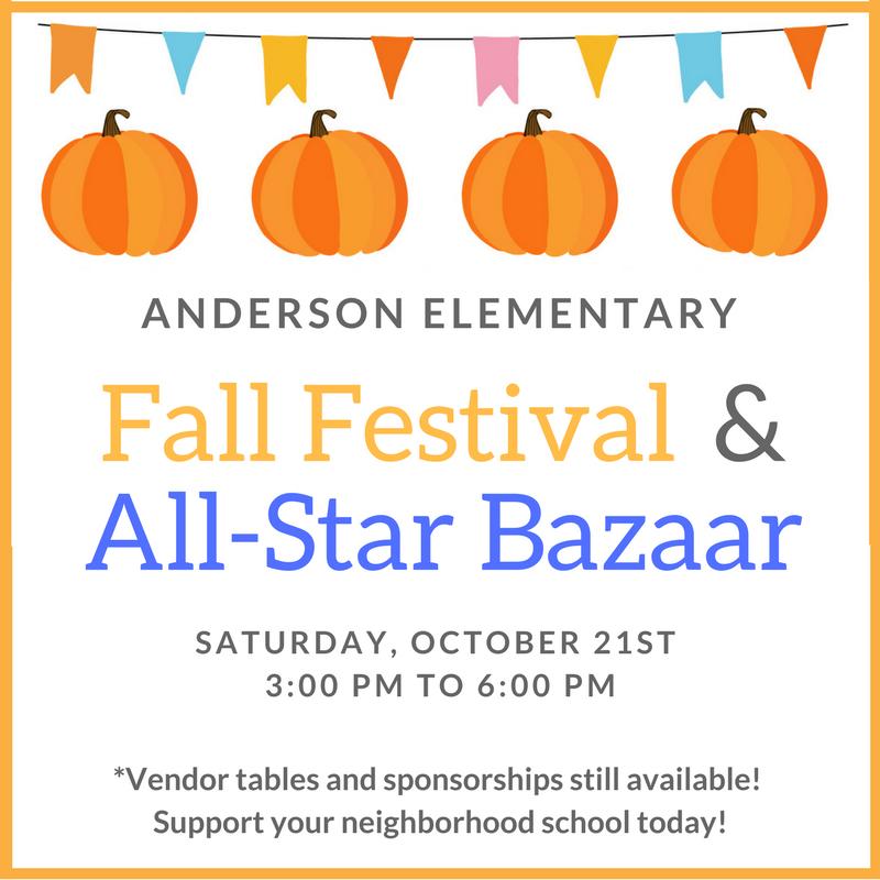 Anderson Elementary Fall Festival & All-Star Bazaar
