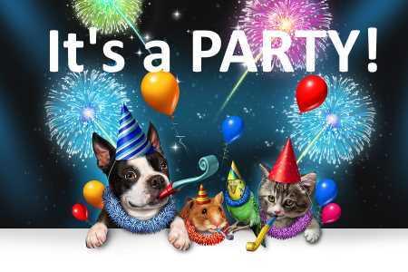 animals celebrating
