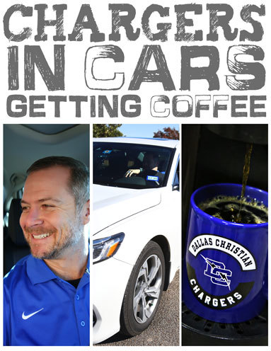 Chargers in Cars Getting Coffee