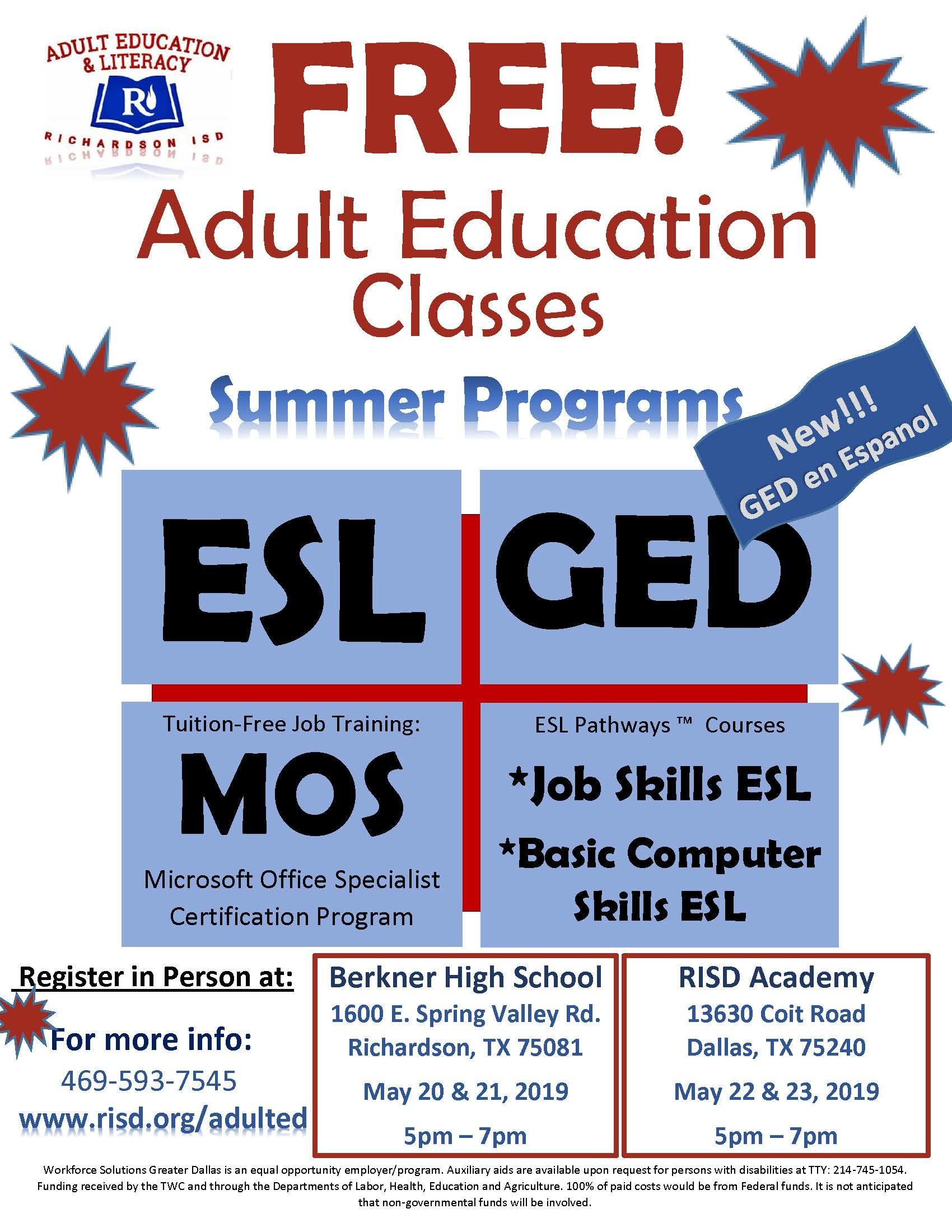 RISD AEL Registration Flyer